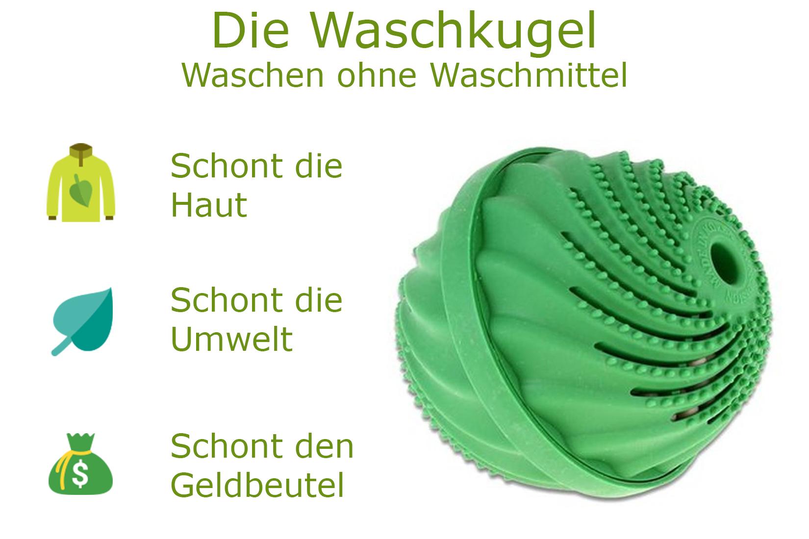 Waschkugel Waschball Waschen ohne Waschmittel ohne Chemie